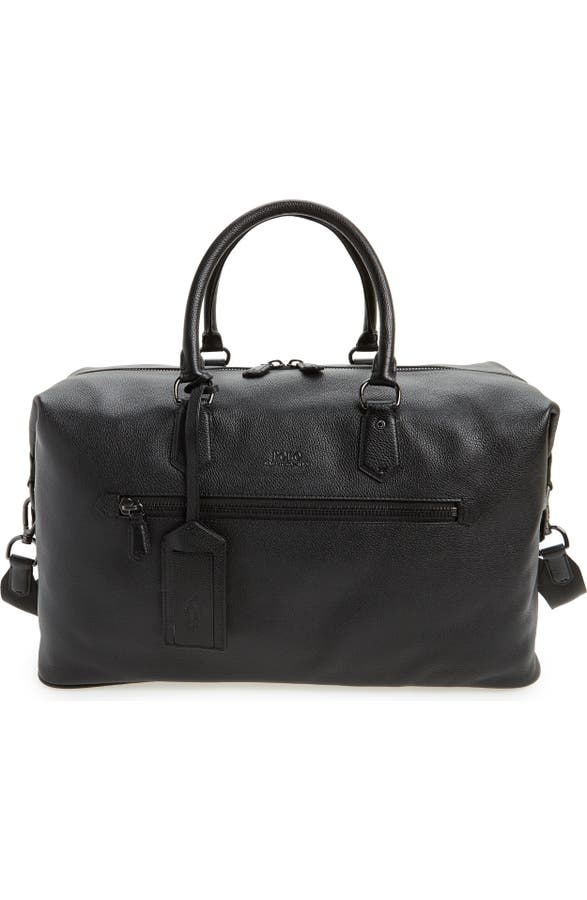1bd65819fc62 Polo Ralph Lauren Pebbled Leather Duffel Bag | Nordstrom