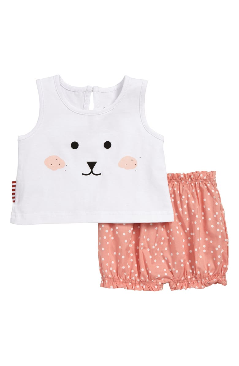 cd1fce987f75 SOOKIbaby Animal Face Swing Top & Bubble Shorts Set (Baby)   Nordstrom