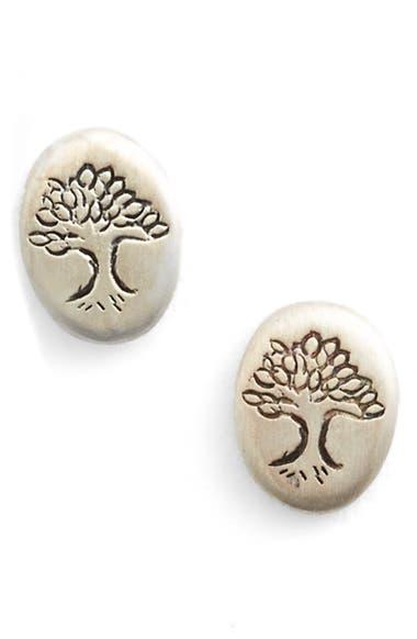 'Tree of Life' Engraved Stud Earrings
