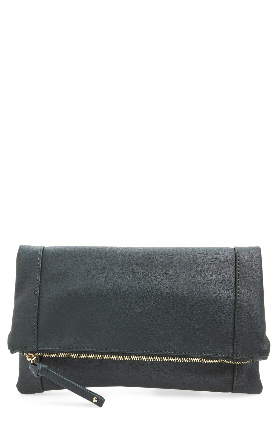 ,                             Marlena Faux Leather Foldover Clutch,                             Main thumbnail 43, color,                             300