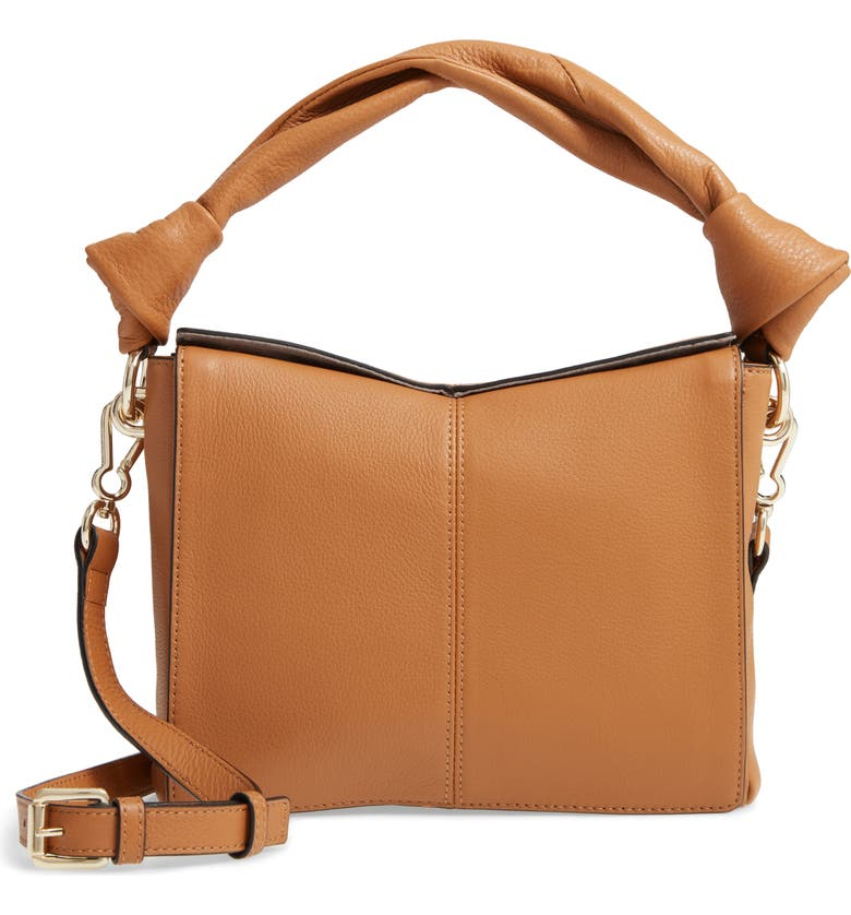 VINCE CAMUTO Dian Leather Top Handle Bag, Main, color, LIGHT OAK