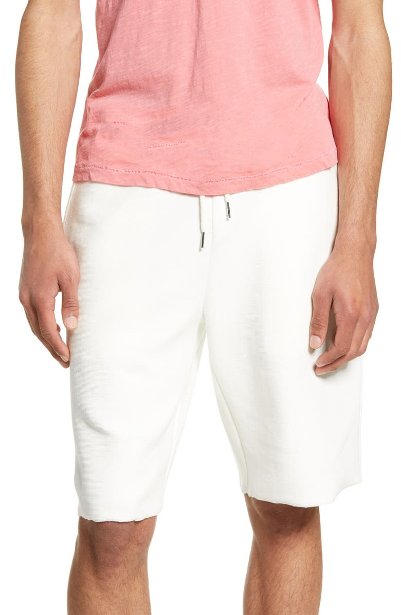BP. Ribbed Ottoman Shorts, Main, color, IVORY EGRET