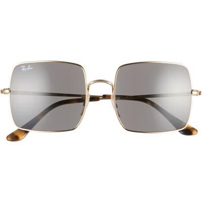 Ray-Ban 5m Square Sunglasses - Gold/ Dark Grey Solid