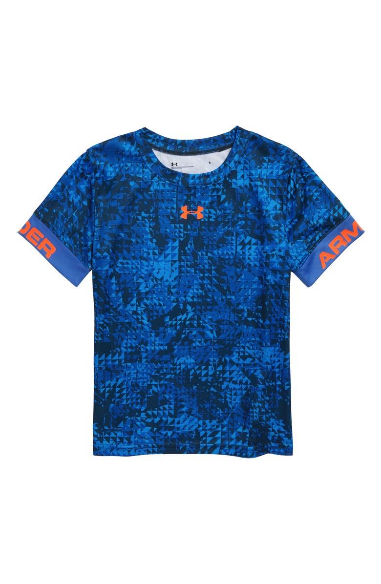 UNDER ARMOUR HeatGear<sup>®</sup> Triledo T-Shirt, Main, color, POWDERKEG BLUE