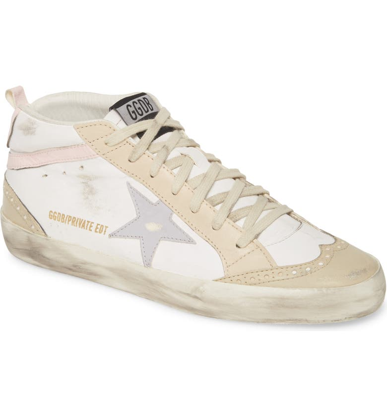 GOLDEN GOOSE Midstar Sneaker, Main, color, WHITE/ NATURAL/ PINK