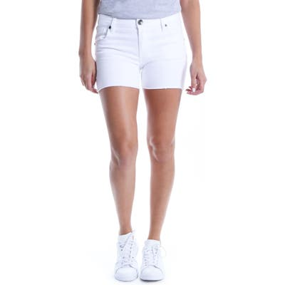 Kut From The Kloth Gidget Raw Hem Shorts, White