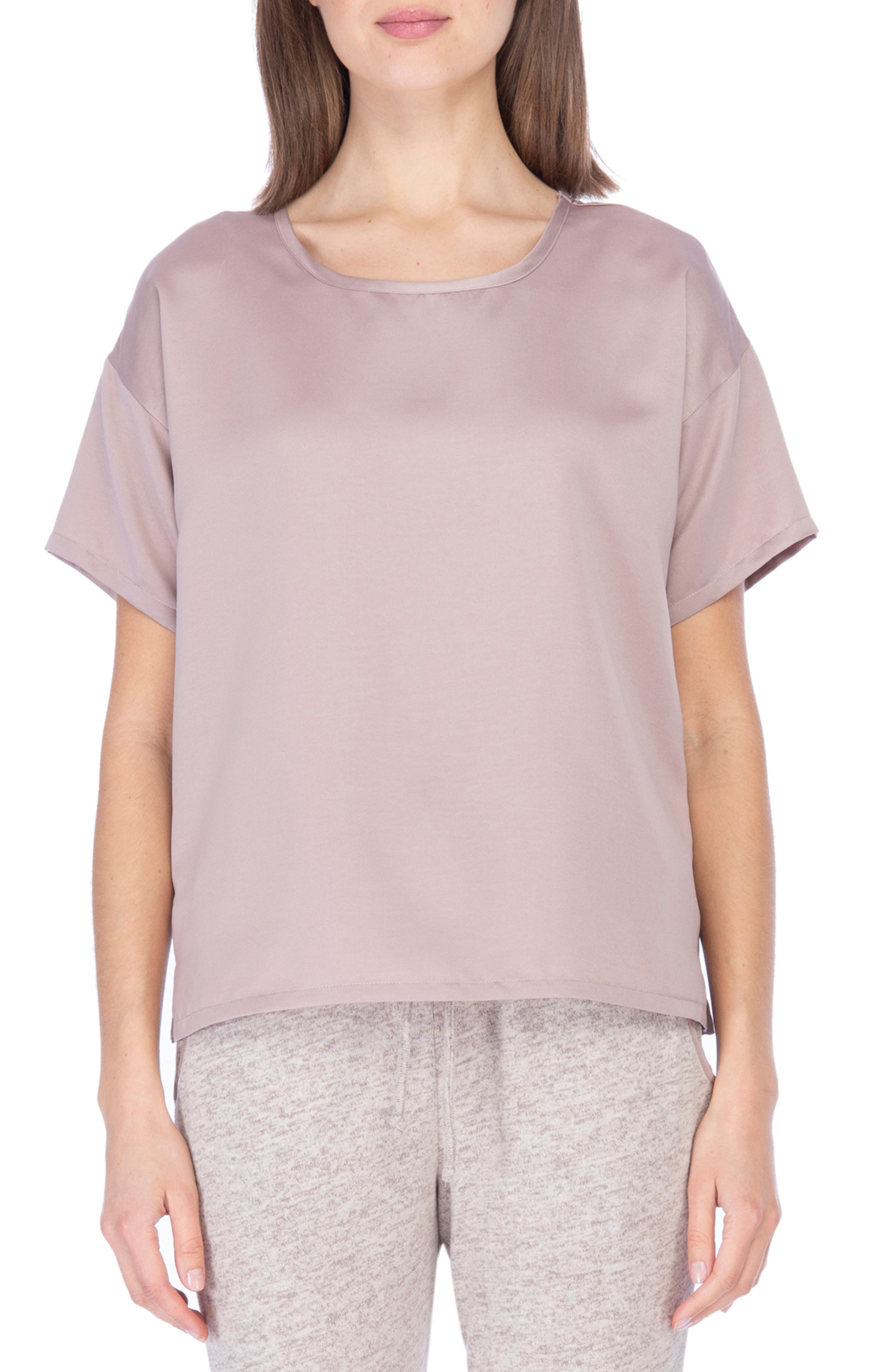 Boxy Satin T-Shirt