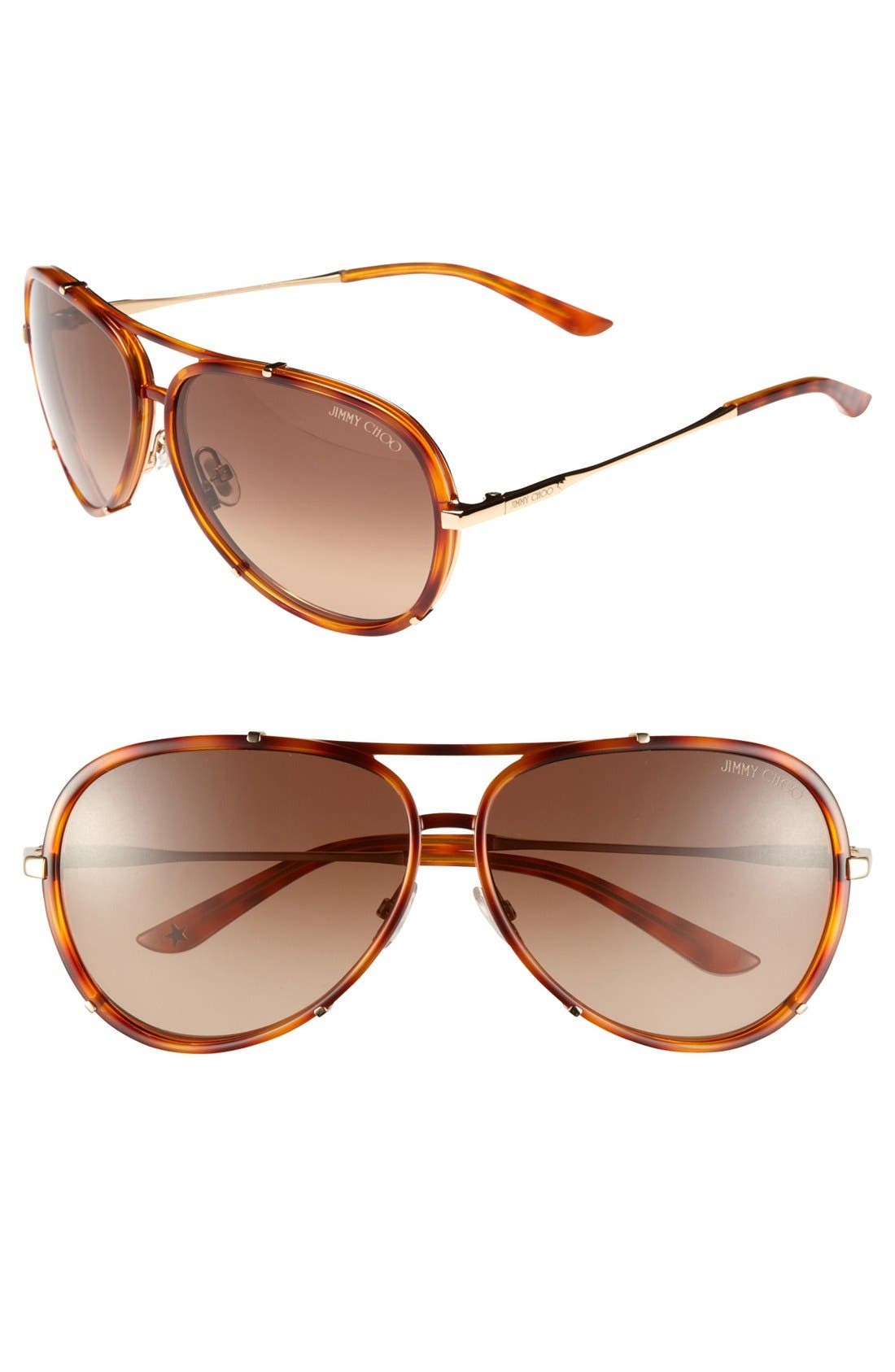 ,                             'Terrence' 62mm Aviator Sunglasses,                             Main thumbnail 3, color,                             201