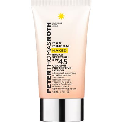 Peter Thomas Roth Max Mineral Naked Spf 45 Broad Spectrum Protective Lotion Sunscreen, .7 oz