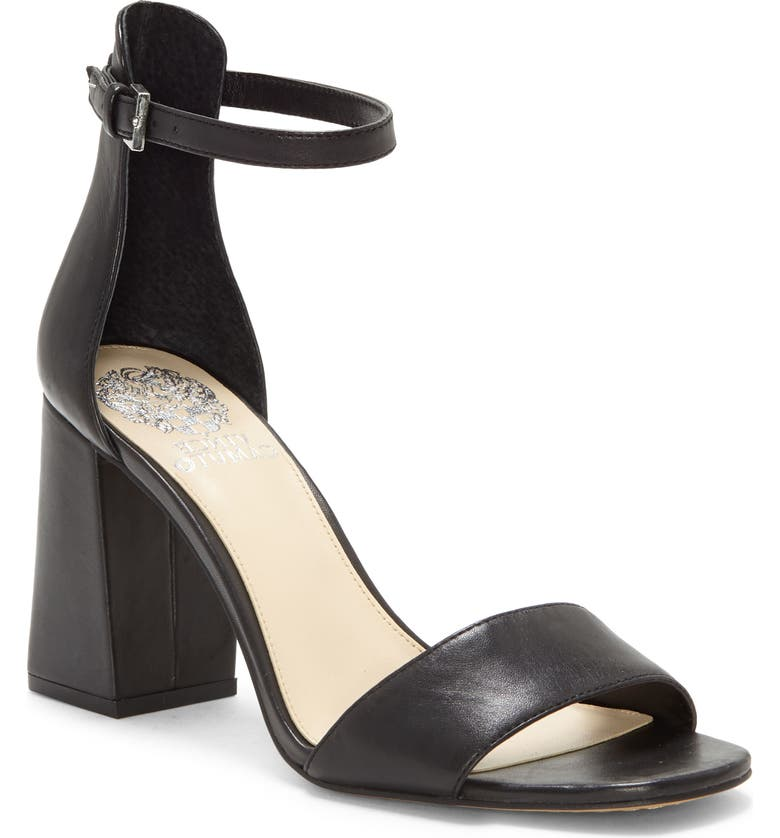 VINCE CAMUTO Winderly Ankle Strap Sandal, Main, color, BLACK/BLACK LEATHER