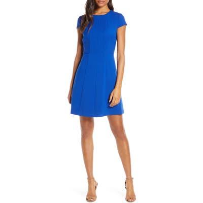 Harper Rose Fit & Flare Dress, Blue