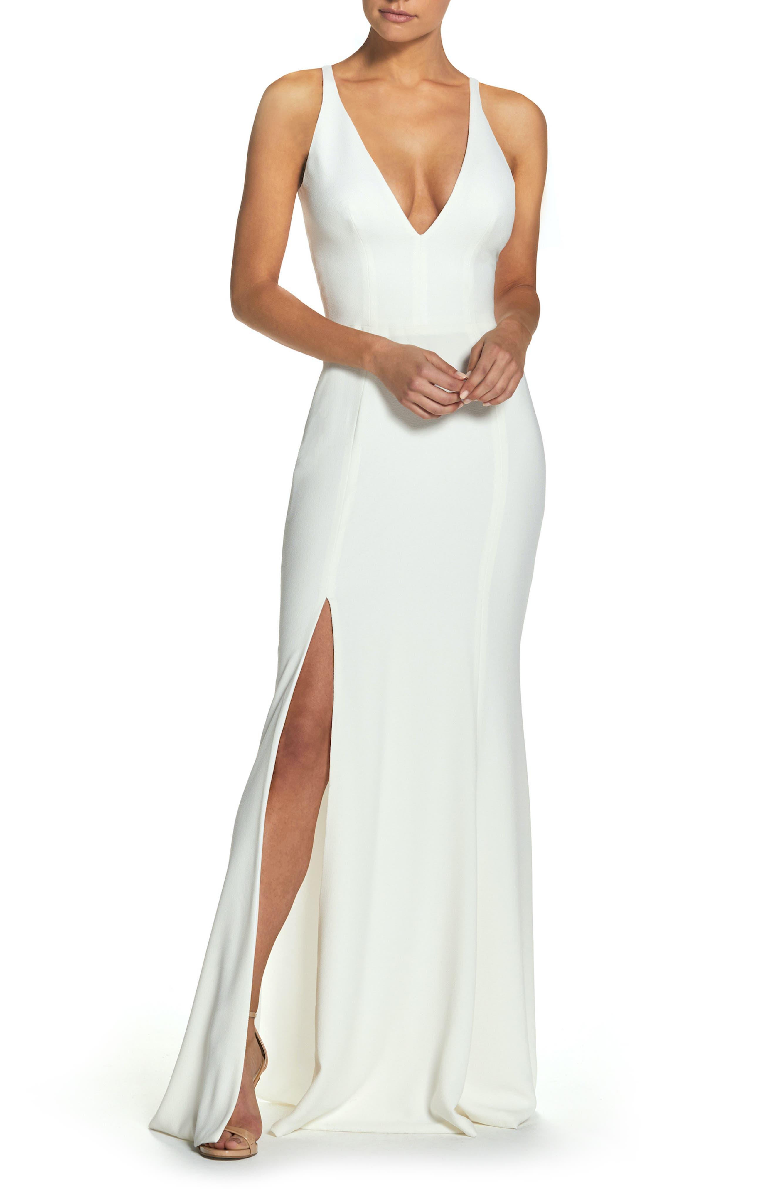 Iris Slit Crepe Gown