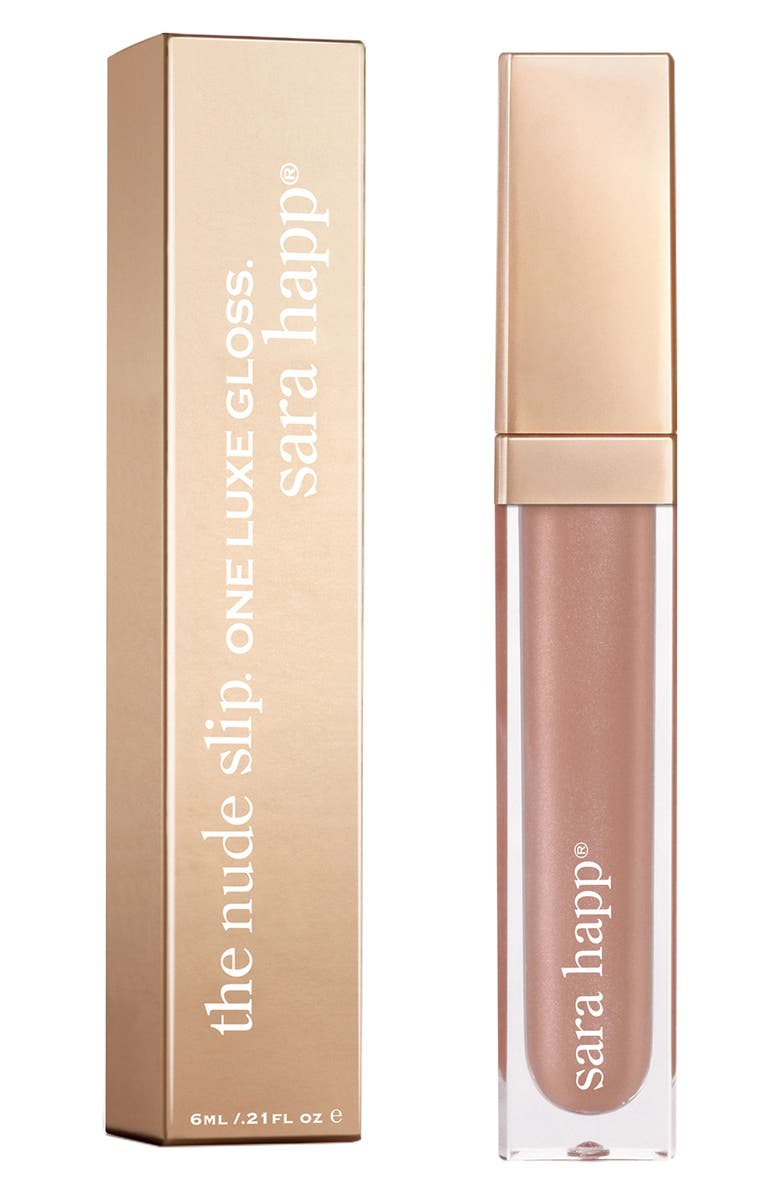 SARA HAPP<SUP>®</SUP> The Lip Slip<sup>®</sup> One Luxe Gloss, Main, color, NUDE