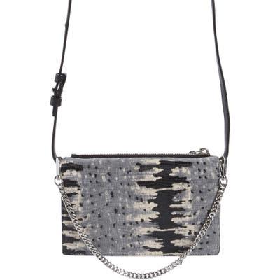 Allsaints Claremount Snake Embossed Leather Crossbody Bag - Grey