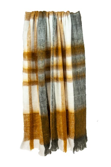 """Image of Parkland Collection Cabino Lodge Multi 52"""" x 67"""" Woven Handloom Throw Blanket"""