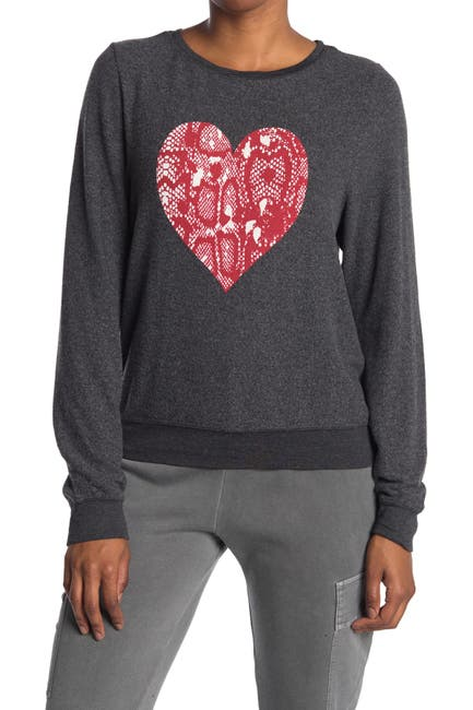 Image of WILDFOX Snakelace Heart Pullover