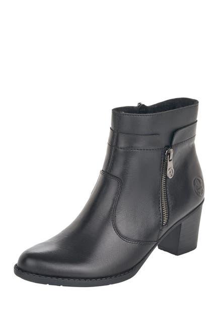 Image of Rieker Ivonne Leather Block Heel Boot
