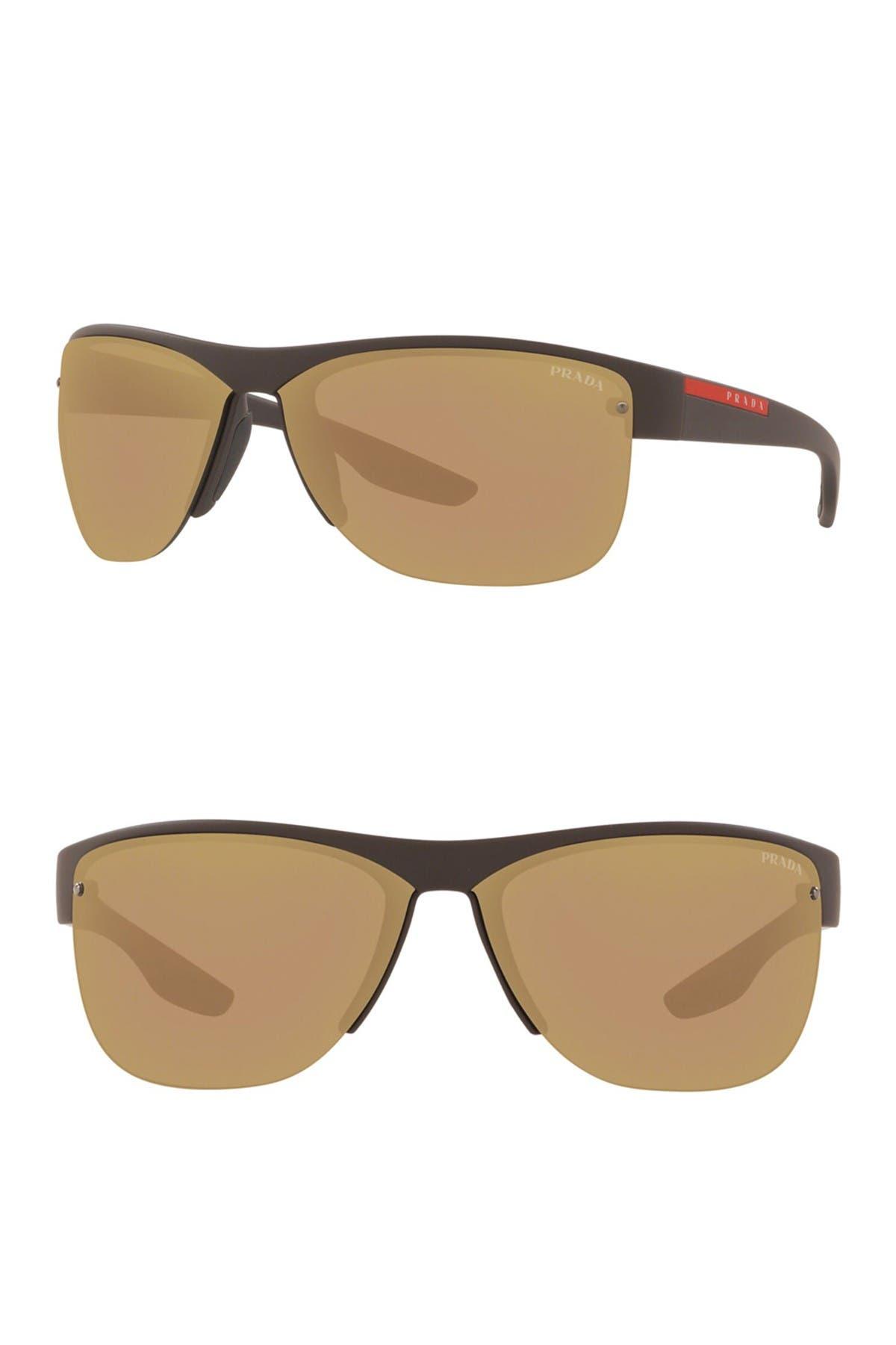Image of PRADA LINEA ROSSA 68mm Pillow Sunglasses