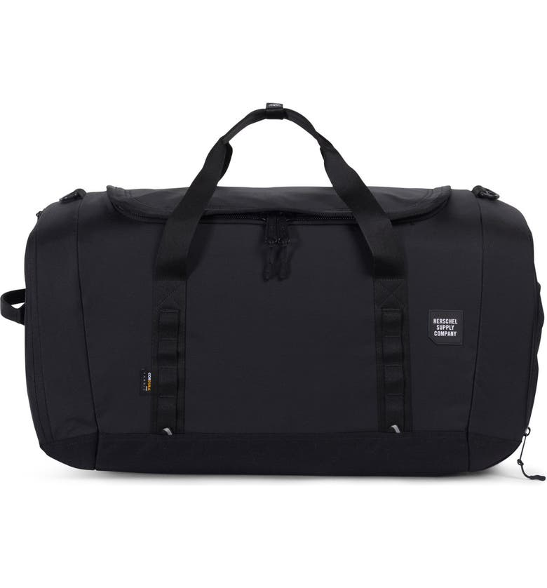 HERSCHEL SUPPLY CO. Trail Gorge Duffle Bag, Main, color, BLACK
