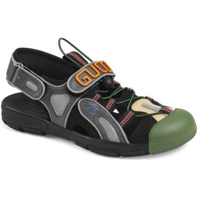 Gucci Tinsel Sandal, Black