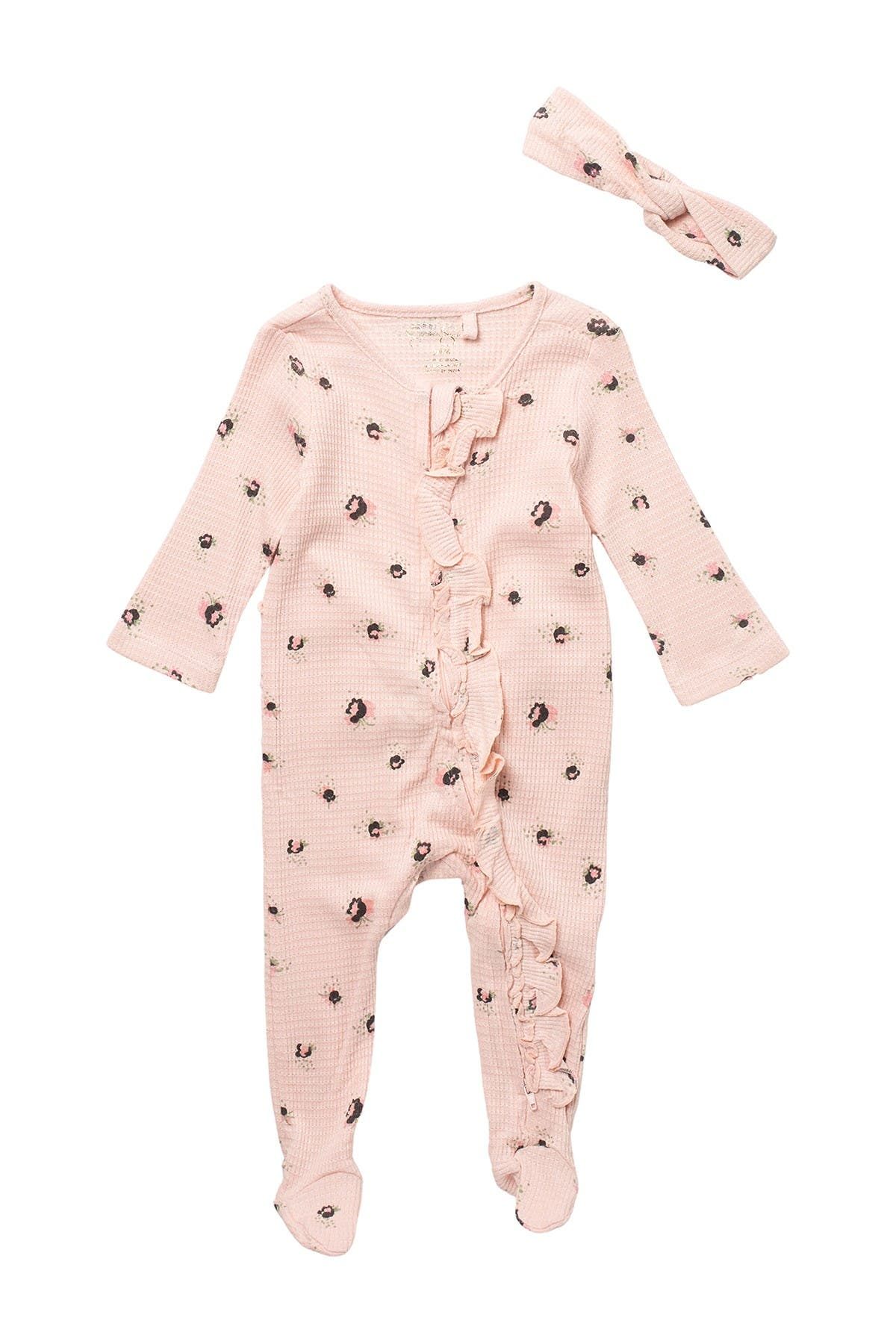 Jessica Simpson Baby Girl Footie With Headband
