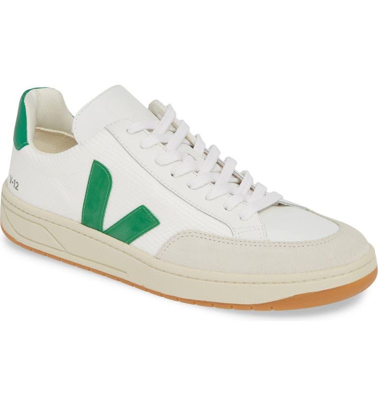 VEJA V-12 Sneaker, Main, color, WHITE