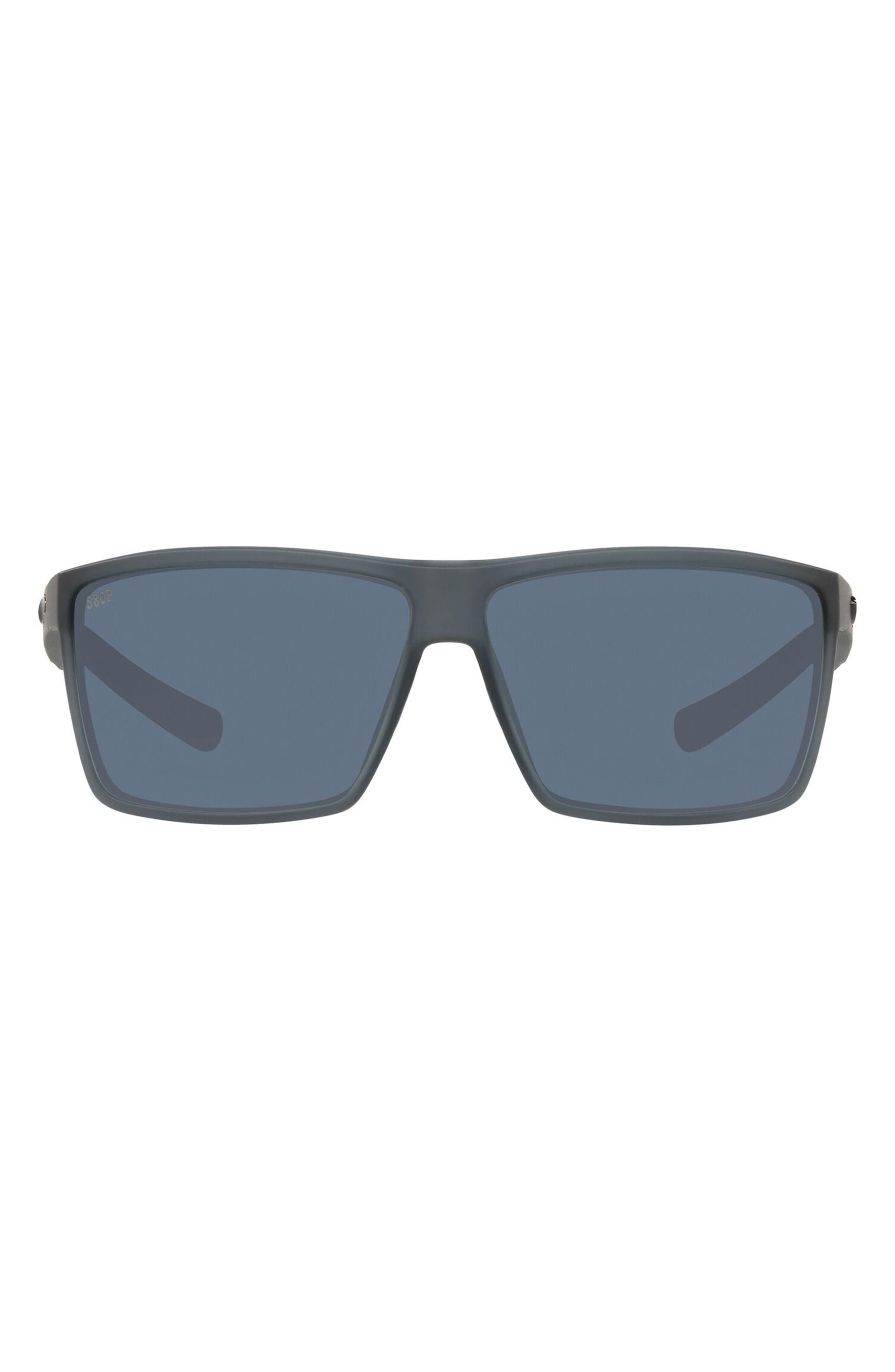 63mm Polarized Oversize Rectangular Sunglasses