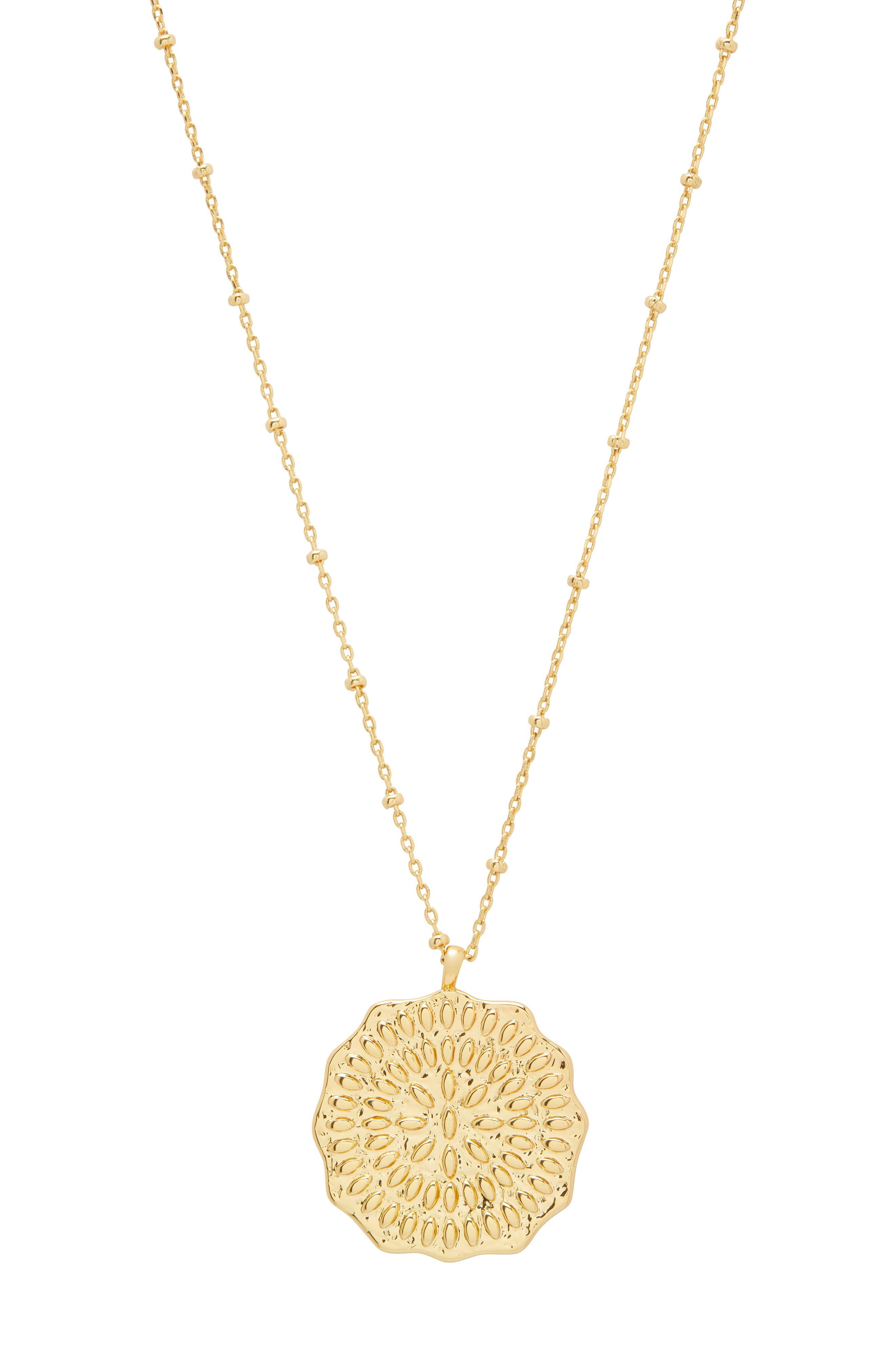 Mosaic Coin Pendant Necklace