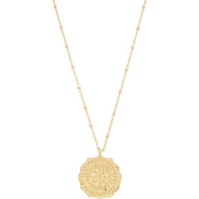 Gorjana Mosaic Coin Pendant Necklace