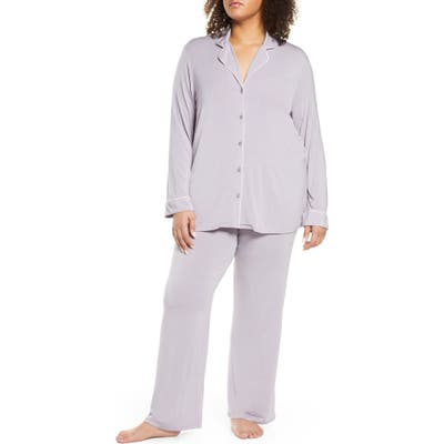 Plus Size Nordstrom Lingerie Moonlight Pajamas, Purple