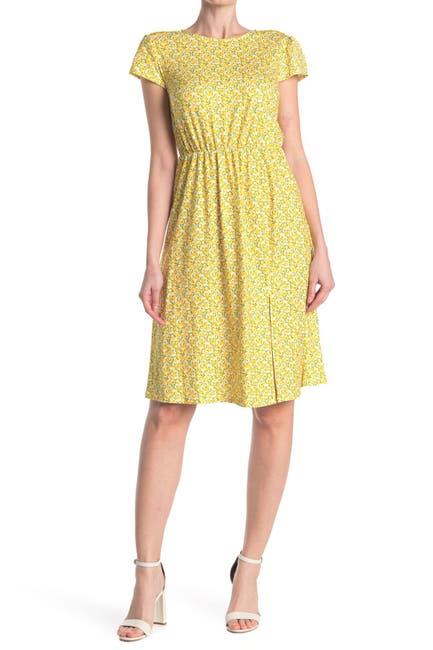 Image of TASH + SOPHIE Cap Sleeve Printed Dress