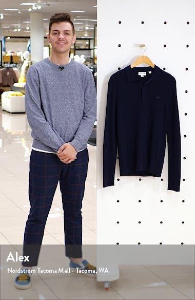 Rib Long Sleeve Polo Sweater, sales video thumbnail