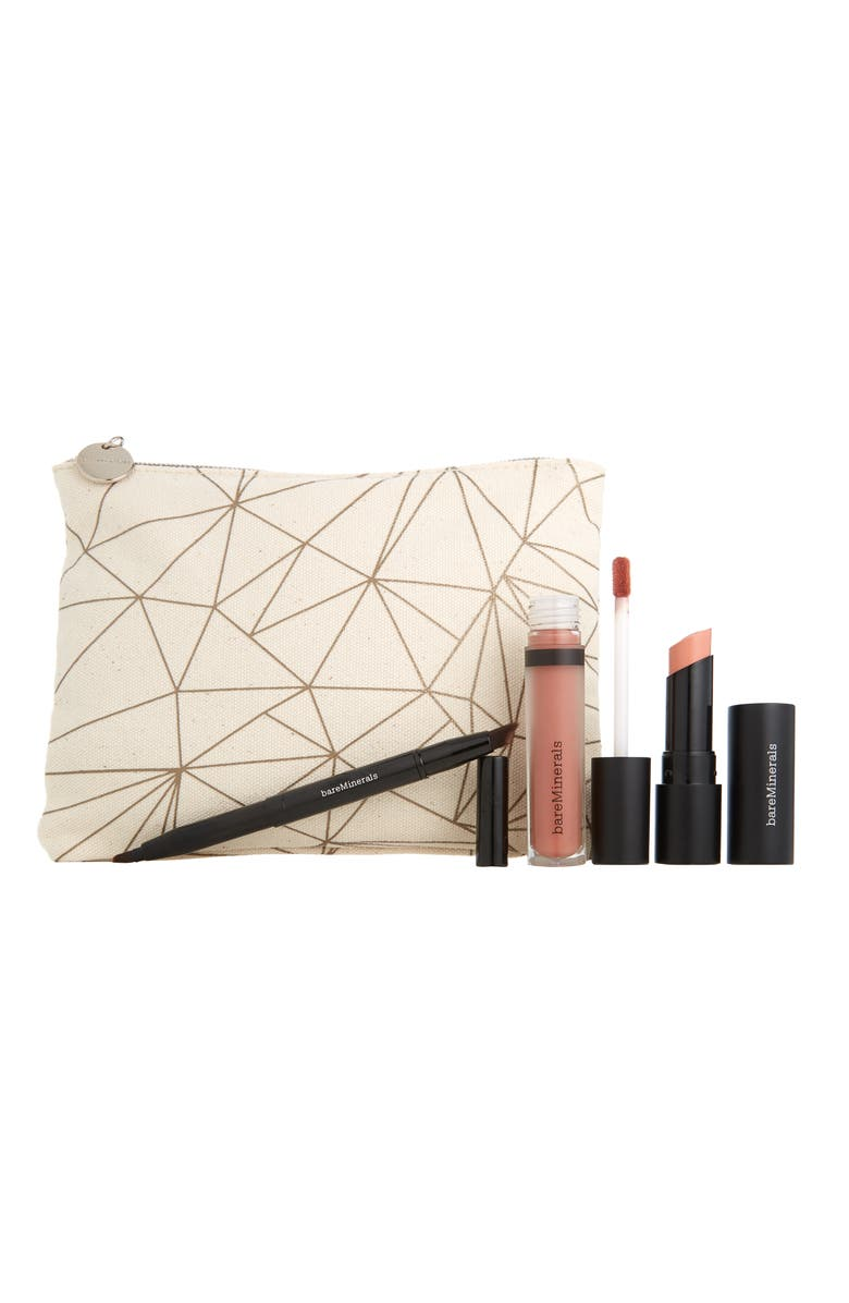 BareMinerals Nude Lips To Love GEN NUDE Lip Set 59 Value