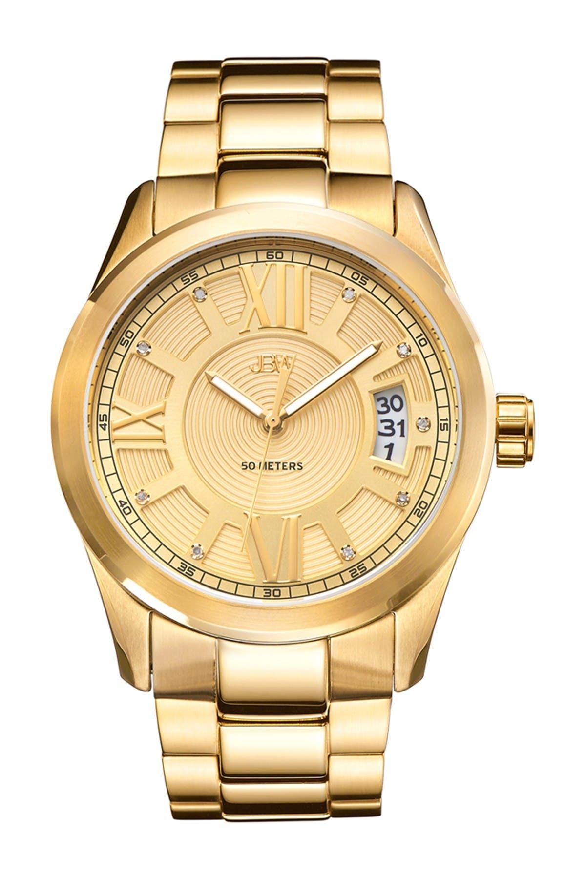Image of JBW Men's Cristal Diamond Watch, 44mm - 0.09 ctw