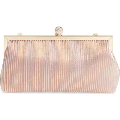 Nina Aneka Pleated Shine Clutch - Pink