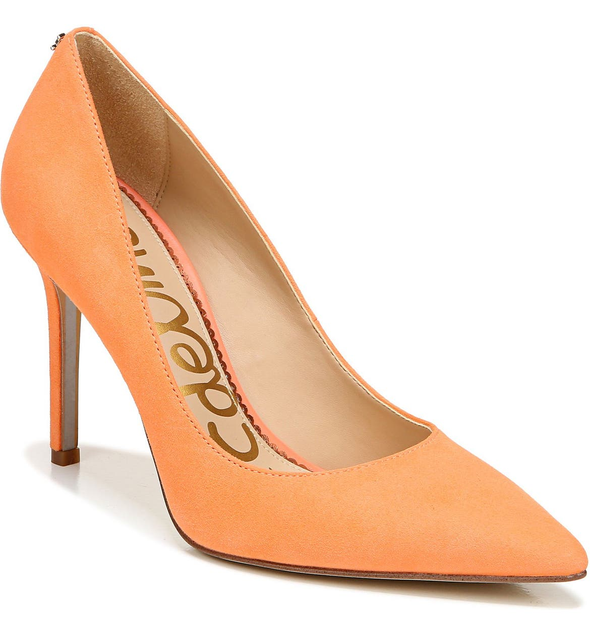 Sam Edelman orange pumps.