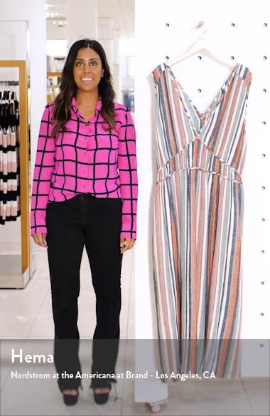 Favorite Stripe Linen Blend Maxi Dress, sales video thumbnail