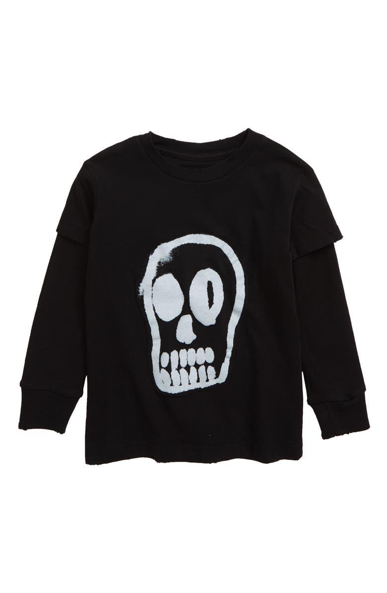 NUNUNU Dizzy Skull Graphic T-Shirt, Main, color, 001
