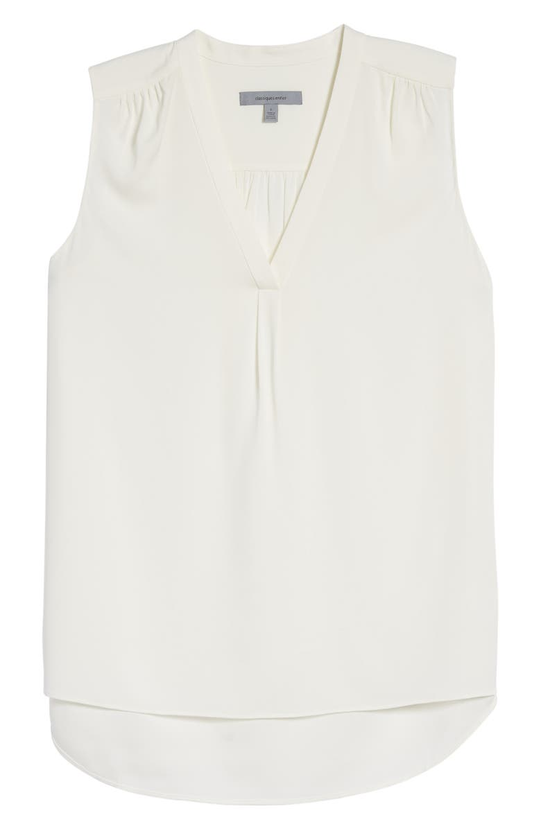 CLASSIQUES ENTIER<SUP>®</SUP> Stretch Silk Shirred V-Neck Top, Main, color, 900