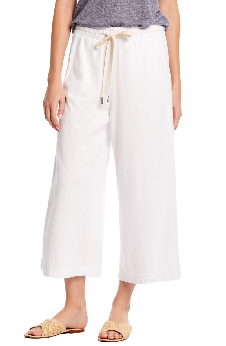 MICHAEL STARS Priscilla Wide Leg Crop Pants, Main, color, 100