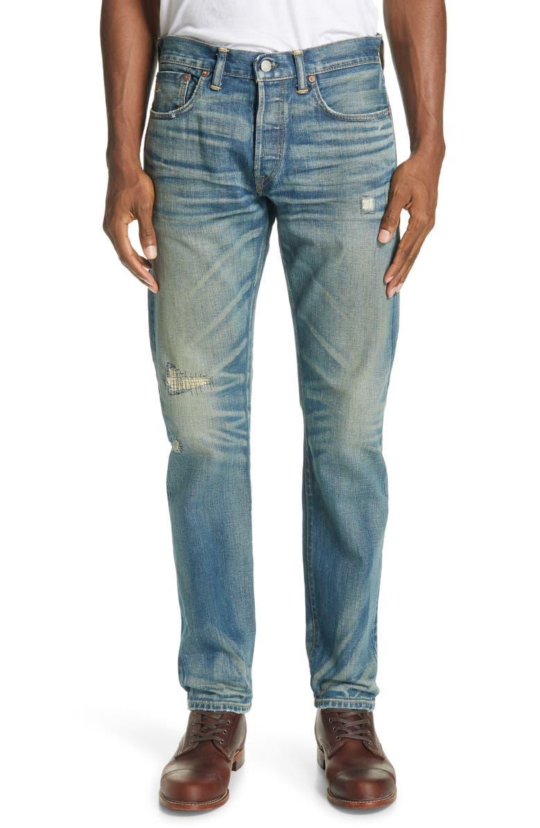 RRL Slim Fit Jeans, Main, color, RIDGWAY WASH