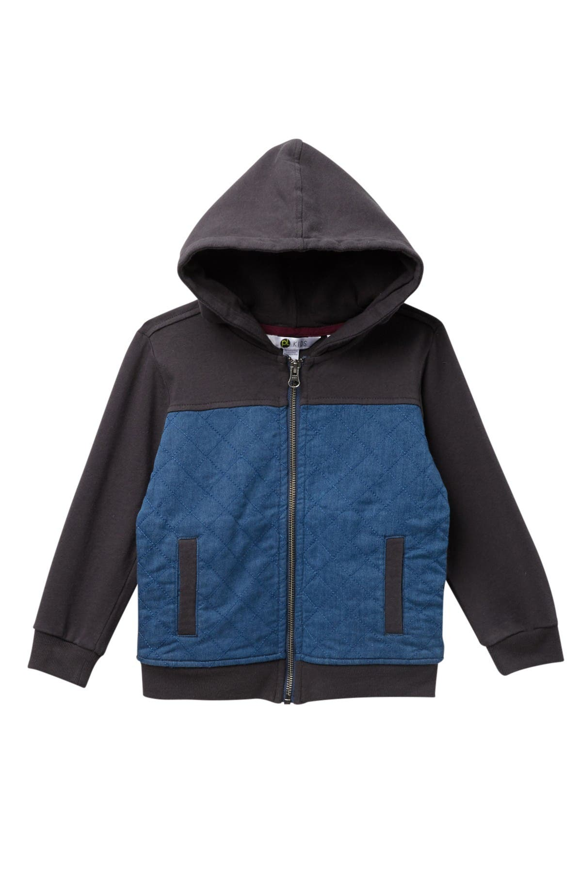 Image of Petit Lem Quilted Knit Zip Hoodie