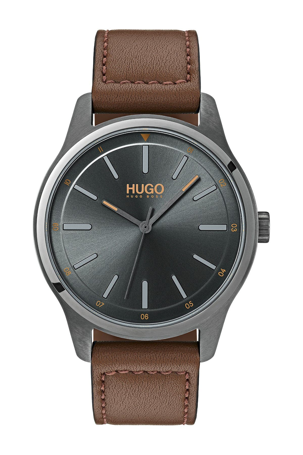Image of BOSS Men's Dare Leather Strap Watch