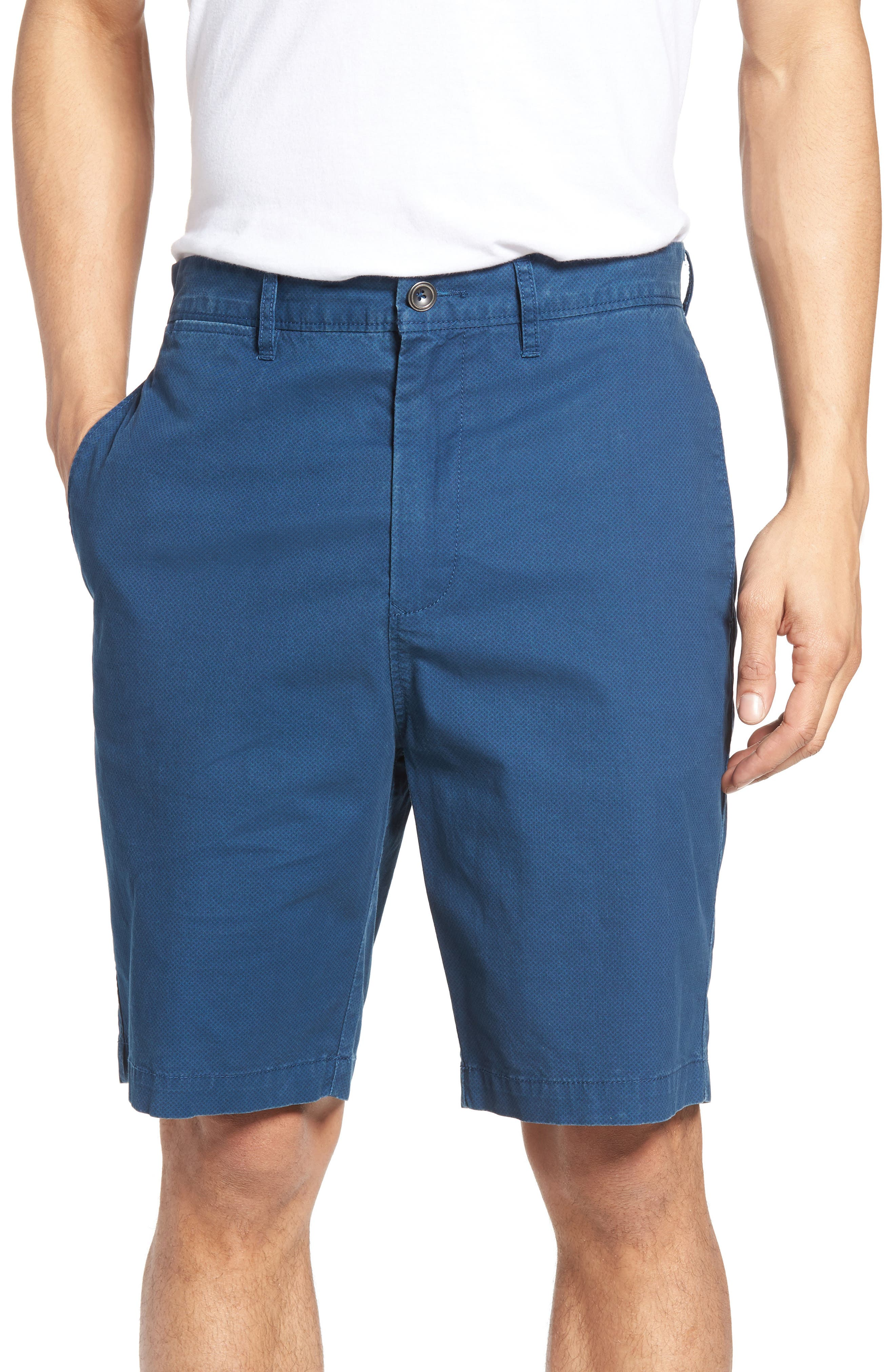 Image of RODD AND GUNN Benneydale Slim Fit Micro Print Shorts