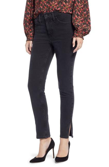Image of Something Navy Slit Hem Skinny Jeans