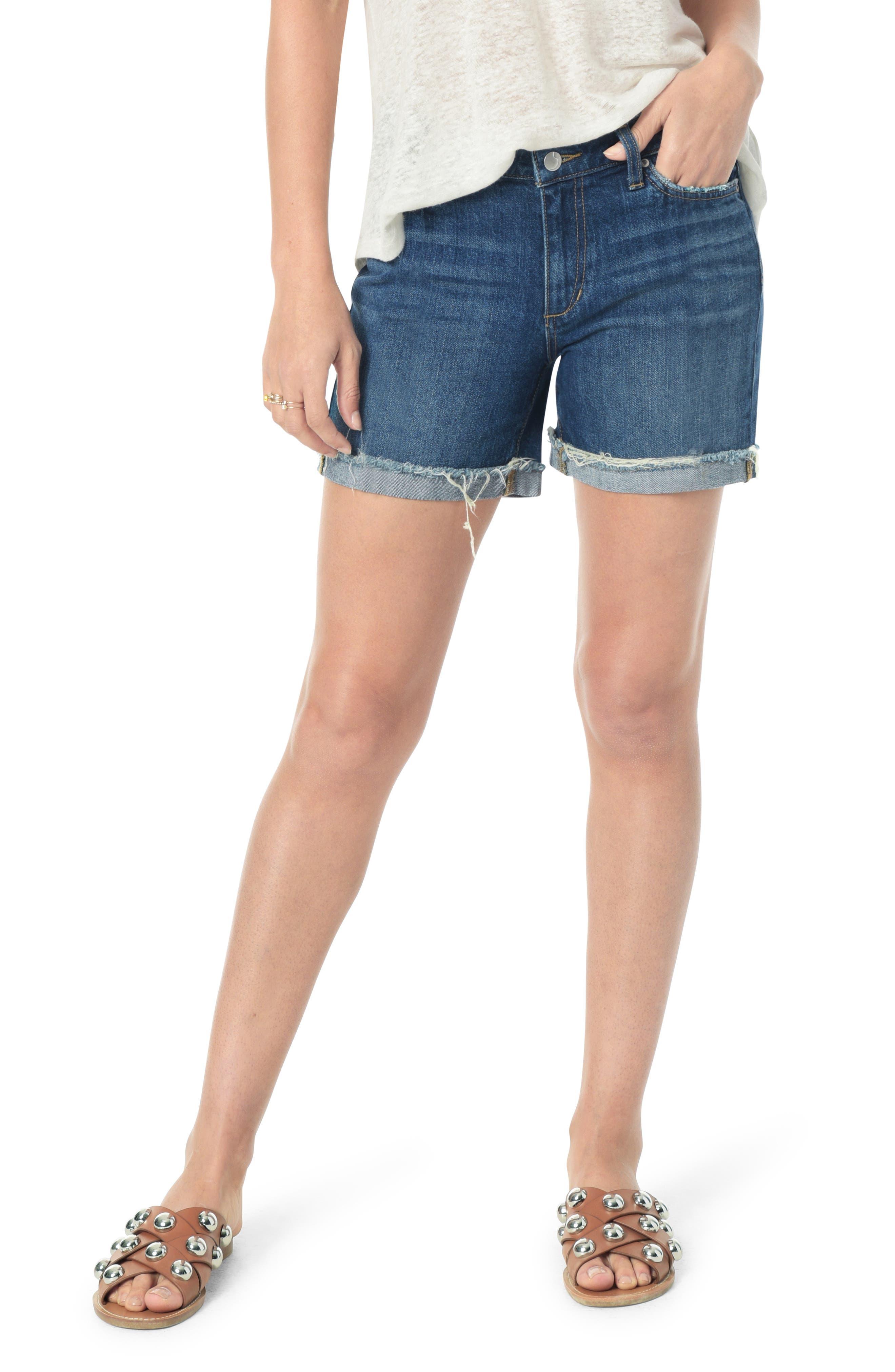 Women's Joe's Frayed Denim Shorts,  28 - Blue