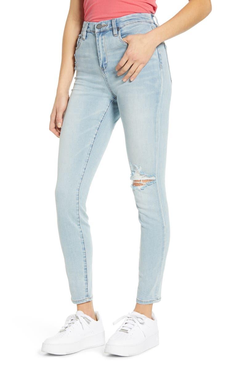 BLANKNYC The Great Jones High Waist Ripped Jeans, Main, color, DAYBREAK