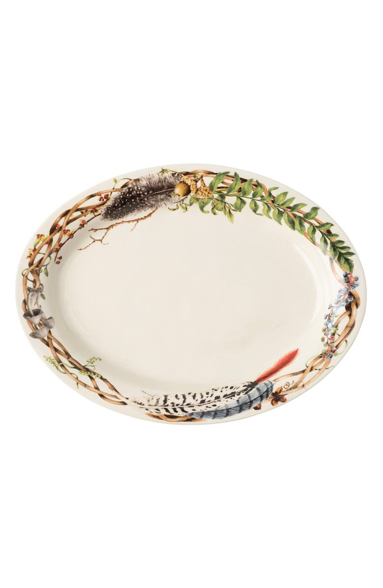 JULISKA Forest Walk Oval Platter, Main, color, CAFE AU LAIT