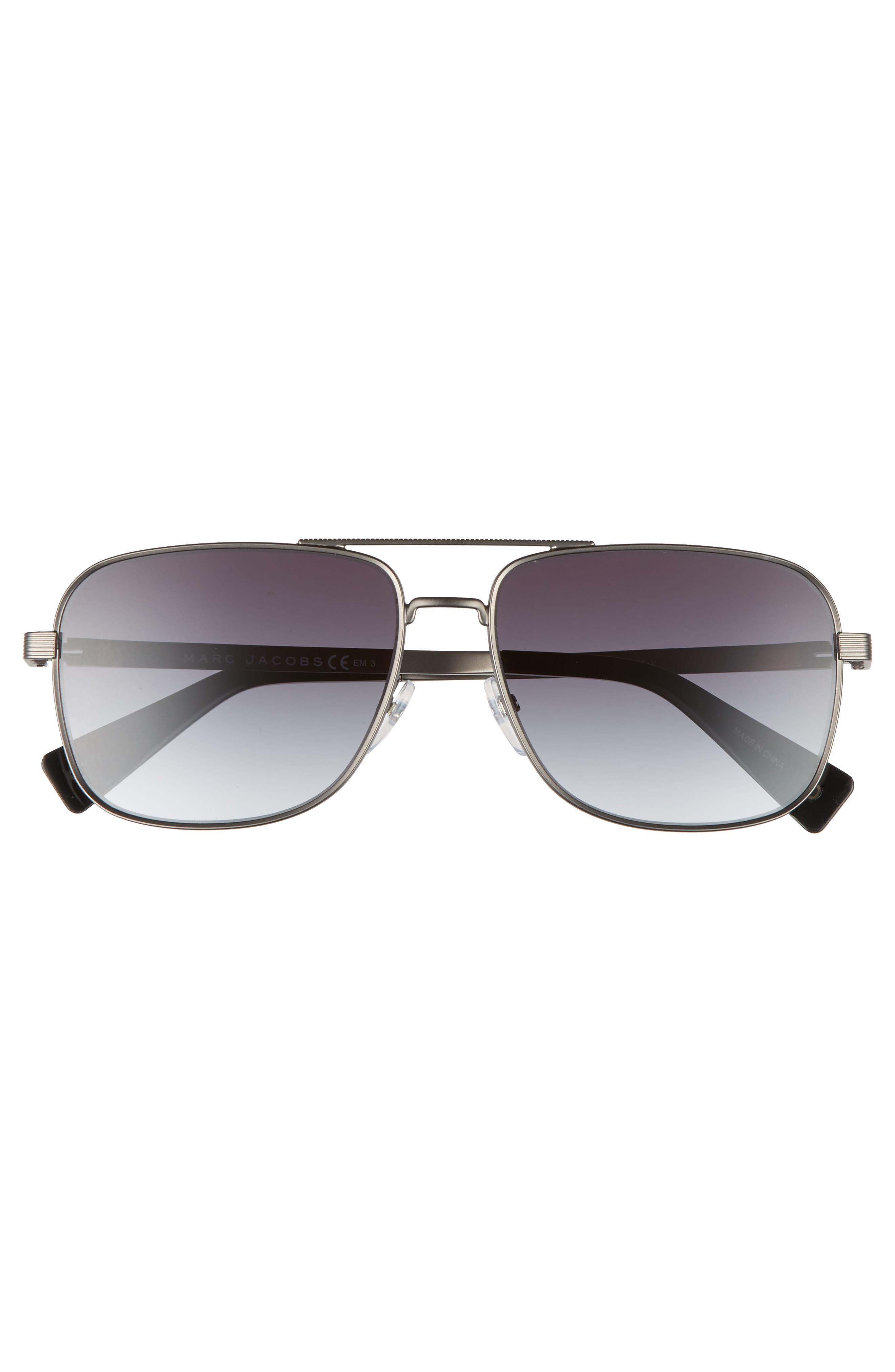 ,                             59mm Gradient Navigator Sunglasses,                             Alternate thumbnail 3, color,                             043