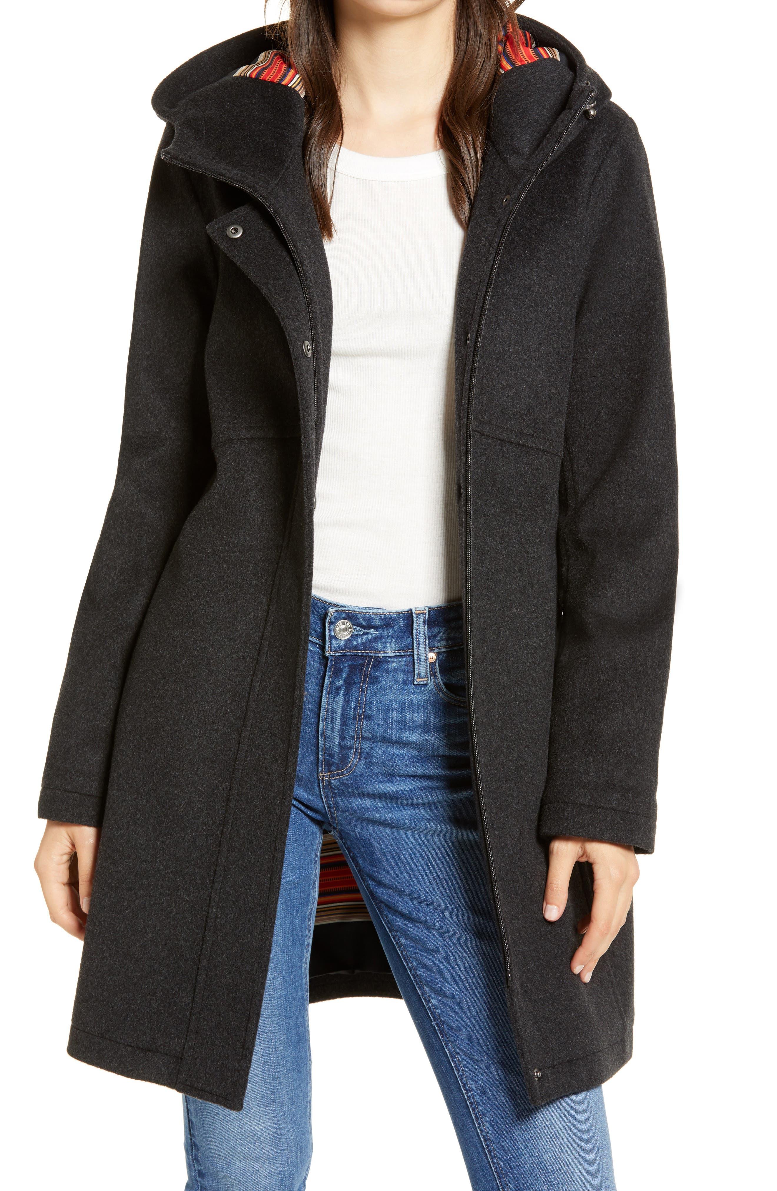 Pendleton Ashwood Water Repellent Hooded Wool Blend Coat Nordstrom Rack [ 4048 x 2640 Pixel ]